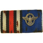 Ribbon bar: Police longservice cross and ww1 commemorative medal.