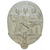 1935 National Day of Labour Badge-Day of labour badge