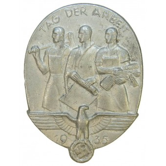 1935 National Day of Labour Badge-Day of labour badge. Espenlaub militaria