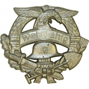 3 rd Reich Wehrfähig badge- ready for duty. Espenlaub militaria