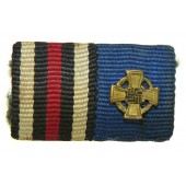 3rd Reich 1914-1918 and service decoration  ribbon bar