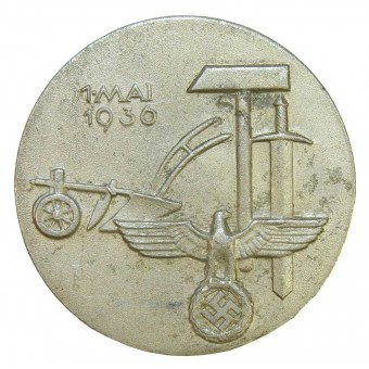 3rd Reich International Labour day 1 Mai 1936 year badge. Espenlaub militaria