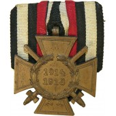 Commemorative cross for WW1 for combatant- Ehrenkreuz für Frontkämpfer 1914-1918. Marked.
