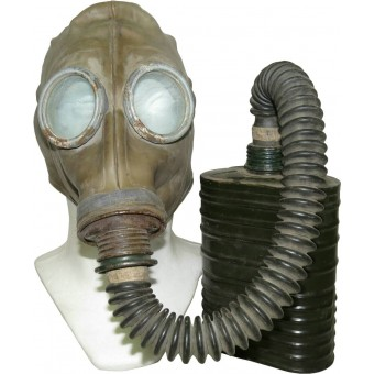 1941 year Soviet RKKA Gasmask BS MT-4 with gas mask SchM-1. Espenlaub militaria
