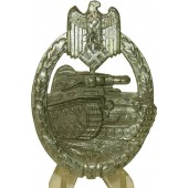 3rd Reich PKA - Panzerkampfabzeichen - Tank assault badge in silver - Zinc, hollow