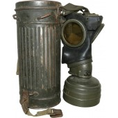Wehrmacht Heer or Waffen SS camo combat gasmask