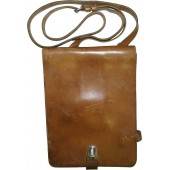 German DDR made brown leather mapcase