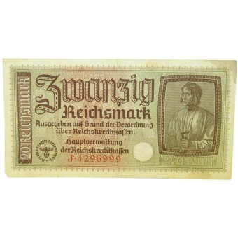 German occupied eastern territories 20 Reichsmark. Espenlaub militaria
