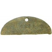Half SS dog tag, Leibstandarte Adolf Hitler