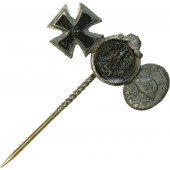 Iron cross II 1939, Winterschlacht im Osten and wound badge miniatures