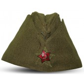 M35 Soviet Russian side hat for NCO's with zig-zag stitching around of the star,