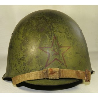 Soviet Ssch-39 steel helmet, marked 1940 year, Red Star with hammer and sickle. Espenlaub militaria