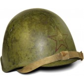 Soviet Ssch-39 steel helmet, marked 1940 year, Red Star with hammer and sickle