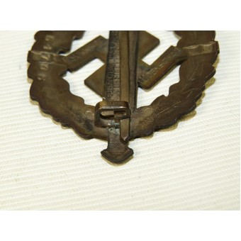 NSDAP sports badge, silver class, heavily patinated. Marked Schneider. Espenlaub militaria