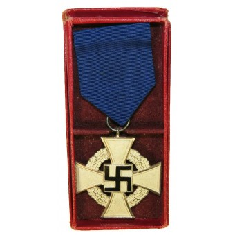 Rudolf Souval silver class 25 years of Faithful Service Cross. Espenlaub militaria