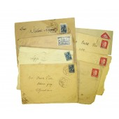 Set of 8 envelopes 1941-45 year, issued in Estonia during Soviet and German occupation