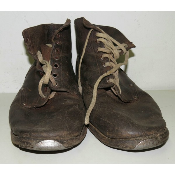 Soviet WW2 Issue Lend Lease Leather Boots- Boots & Shoes