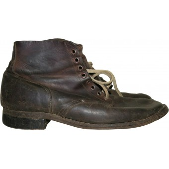 Soviet WW2 issue lend lease leather boots. Espenlaub militaria