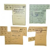 WW2 period, food and tobacco demand cards/ coupons issued in occupied Estonia