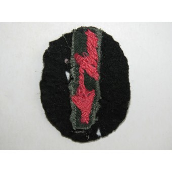 WW2 M 36 German Army Signals Operator patch used by Anti-tank units. Espenlaub militaria