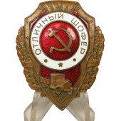 "RKKA, Soviet army distinguishing badge ""Excellent driver"",  Fur. Plant. N.K. P. S"
