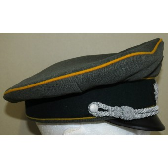 Armoured reconnaissance of the Wehrmacht visor hat for officers. Espenlaub militaria