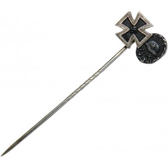 1939 Iron cross and wound badge miniature 9 mm. Espenlaub militaria