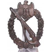 "IAB, infantry assault badge - ""egghead"" type, bronze class"