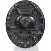 Wound badge 1939, 3rd grade. Die struck iron, blued, black lacquered