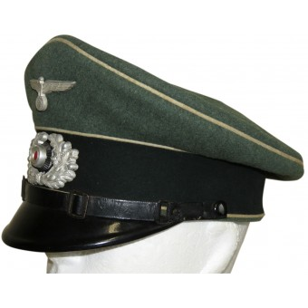 WW2 German Wehrmacht Heer visor hat for enlisted ranks in infantry. Espenlaub militaria