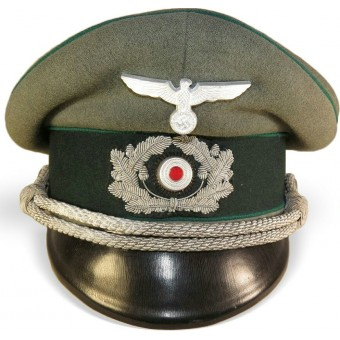 3rd Reich German officers visor hat for Heer Gebirgsjager or Administration. Espenlaub militaria