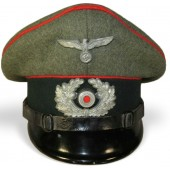 3rd Reich Wehrmacht Heeres Artillery visor hat for NCO's