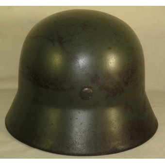 German M 35 Polizei double decal helmet. Espenlaub militaria