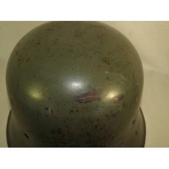 M 34 double decal Medium duty SS-VT or SD helmet. Espenlaub militaria