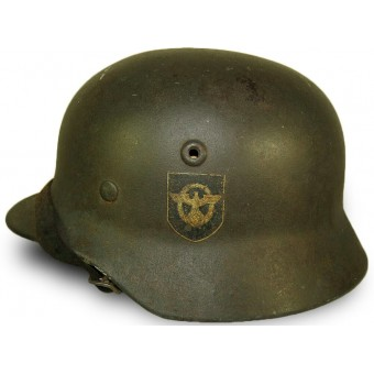 M 40 Polizei double decal Q 64 steel helmet. Espenlaub militaria