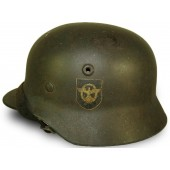 M 40 Polizei double decal Q 64 steel helmet