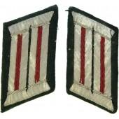 Wehrmacht Heer artillery officers collar tabs