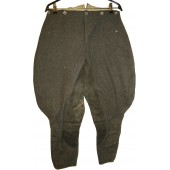 Wehrmacht Heer or SS stone gray breeches
