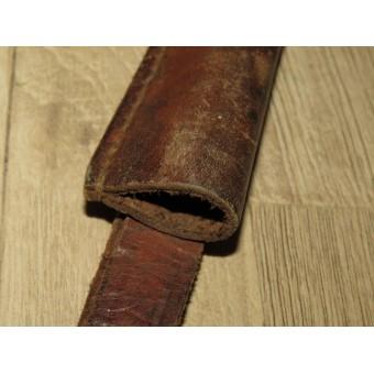 WW1 - WW2 Russian Leather scabbard for Mosin rifle bayonet. Espenlaub militaria