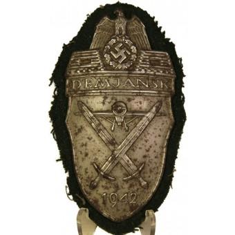 WW2 German sleeve shield award - Demjansk 1942. Espenlaub militaria