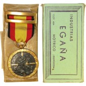 1936 Spanish Civil War Medal by Industrias Egaña- Medalla de la Campaña 1936-1939