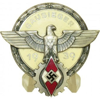 Reichsberufswettkampf 1939 GAUSIEGER-HJ victors badge in the national trade competition