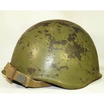 Russian WW2 Steel helmet M40, variant with 6 rivets, repainted.