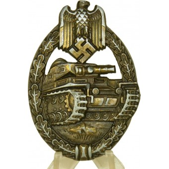 Bronze tank assault badge by EWE. Espenlaub militaria