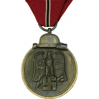 Eastern front medal 1941/42. WIO Medaille, silver/black finish. Mint.