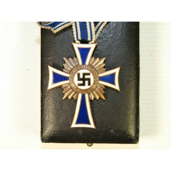 German mother cross in bronze. Alfred Stübbe Berlin with case of issue. Espenlaub militaria