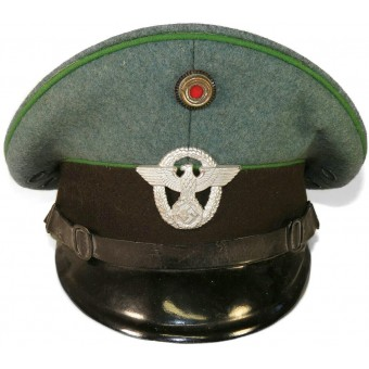 German WW2 Ordnungspolizei police visor hat for enlisted ranks