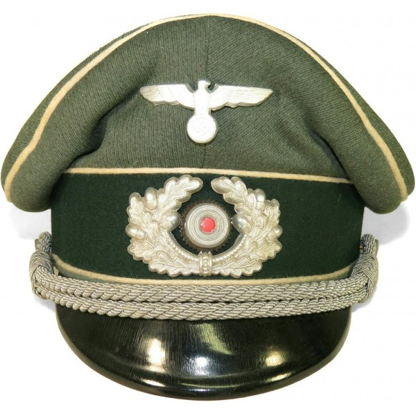 German WW2 Wehrmacht Infantry visor hat- Visor Hats ff74c49b580