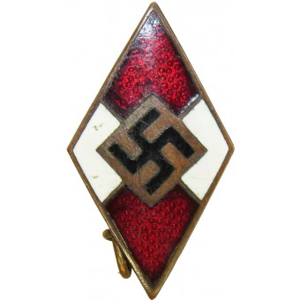Hitler Jugend. HJ member badge. Early. Ges.Gesch marked. Espenlaub militaria