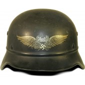 Luftschutz Steel helmet for anti aircraft  defense forces of 3rd Reich. Model 1935.